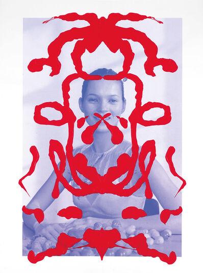 Asher Penn, 'Kate Moss Rorschach Portrait - Red on Blue, 2013', 2013