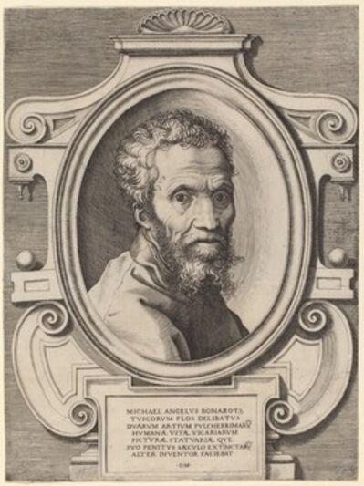 Giorgio Ghisi, after Marcello Venusti, 'Michelangelo Buonarroti', after 1564
