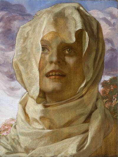 John Currin, 'Shrouded Woman', 2009