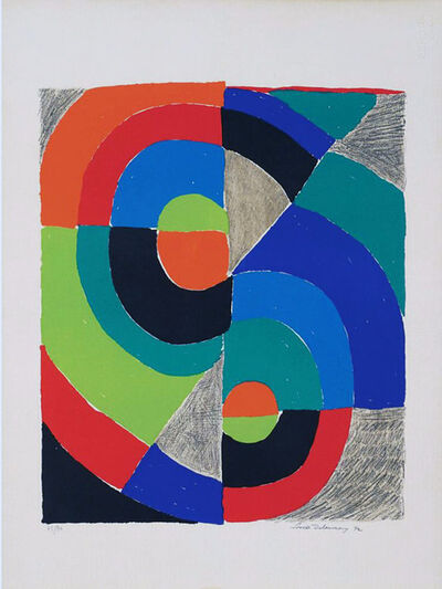 Sonia Delaunay, ' Sans titre', 1982