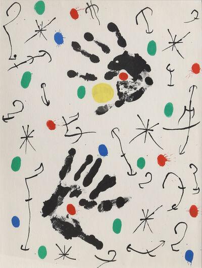 Joan Miró, 'Les Essencies de la Tierra 14', 1968