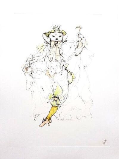 Leonor Fini, 'Leonor Fini - Magical Cat - Original Engraving', 1985