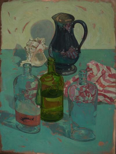 Benjamin J. Shamback, 'Bottles on Bluegreen', 2017