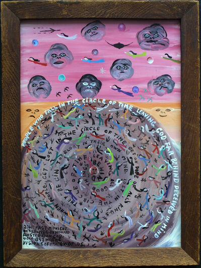"Howard Finster, '""Circle of Time""   ', 1985"