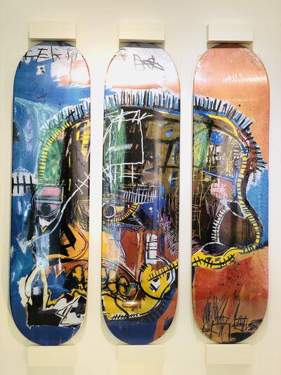 Jean-Michel Basquiat, 'Skateboard Triptych Skull', 2014