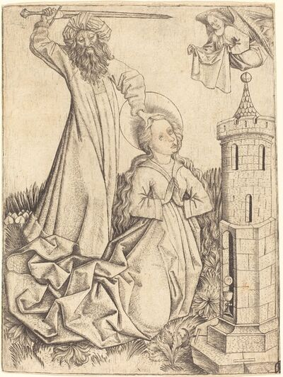 Master E.S., 'The Martyrdom of Saint Barbara', ca. 1450