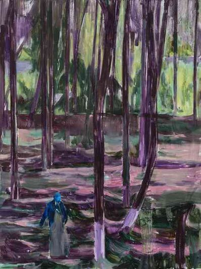 Lei Qi, '林中人B A Figure in the Woods B', 2017