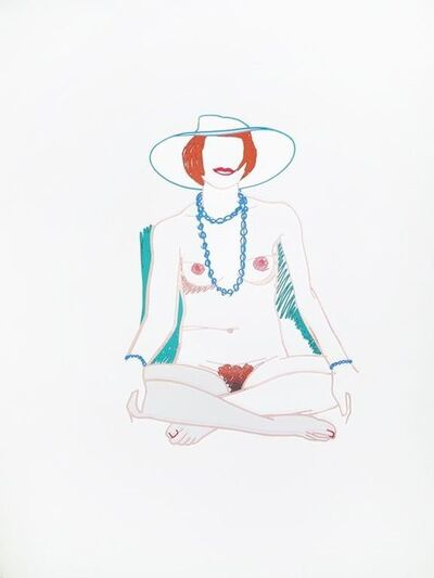 Tom Wesselmann, 'Monica Cross-legged with Beads', 1985