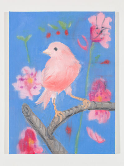 Ann Craven, 'Pink Canary (Stepping Out on Blue), 2017', 2017