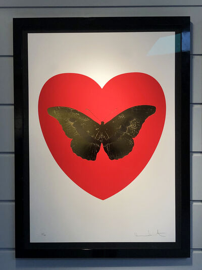Damien Hirst, 'Butterfly Red Heart/Gold', 2015
