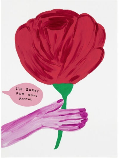 David Shrigley, 'I'm Sorry for Being Awful', 2018