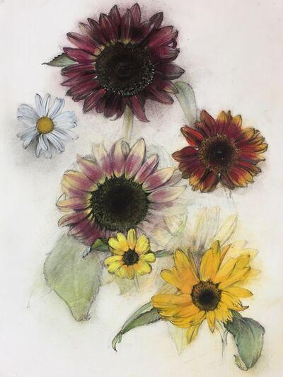 Linda Etcoff, 'Sunflowers and Daisy', 2017