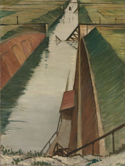 Christopher Richard Wynne Nevinson, 'Destroyed Canal, Ytres', 1918
