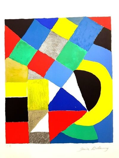 "Sonia Delaunay, 'Original Lithograph ""Composition IV"" by Sonia Delaunay', Circa 1960"