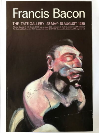 Francis Bacon, 'Signed TATE Gallery Exhibition Poster', 1985