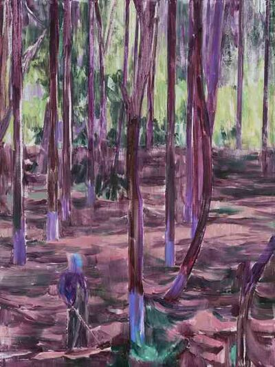 Lei Qi, '林中人A A Figure in the Woods A', 2017