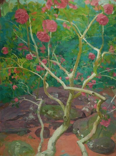 Benjamin J. Shamback, 'Camellia in Violet Rocks', 2017