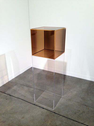 Larry Bell, 'Untitled (Gold Plated Brass Angle Cube)', 1965-2008