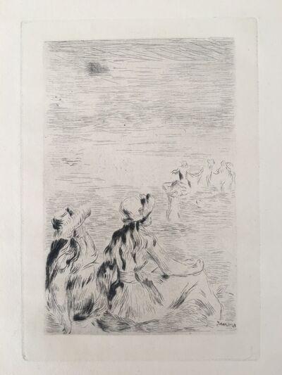 Pierre-Auguste Renoir, 'Sur la plage, à Berneval (D.; S. 5)', ca. 1892