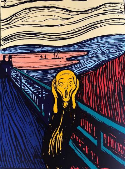 Andy Warhol, 'The Scream Orange - Sunday B. Morning (After)'