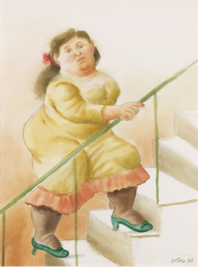 Fernando Botero, 'Woman on the Stairs', 2003