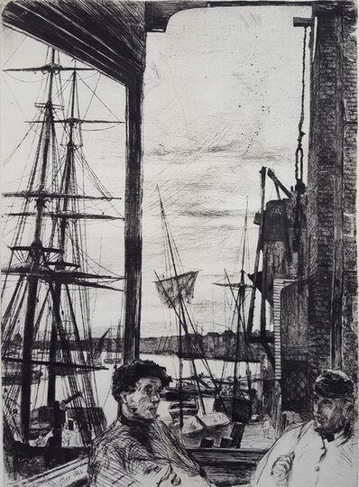 James Abbott McNeill Whistler, 'Rotherhithe (Thames Set)', 1860