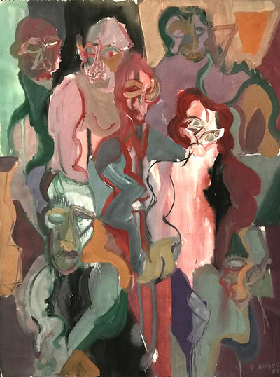 Ted Diamond, 'Untitled (Six Figures One Head)', 1982