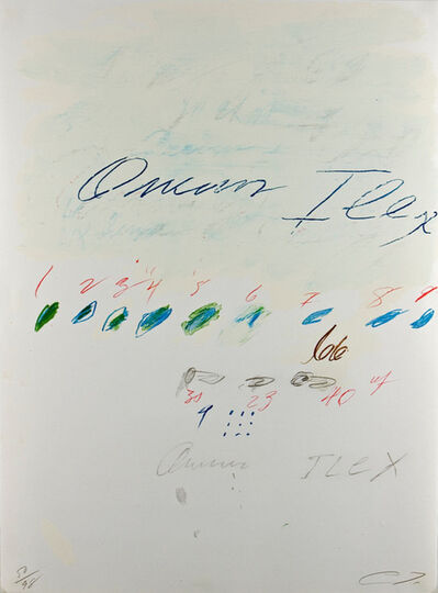 Cy Twombly, 'Ilex Quercus (from Natural History, Part II: Some Trees of Italy)', 1975