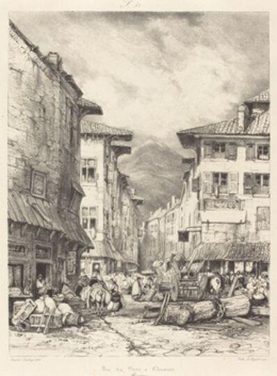 Eugène Isabey, 'Rue des Gras à Clermont', 1830