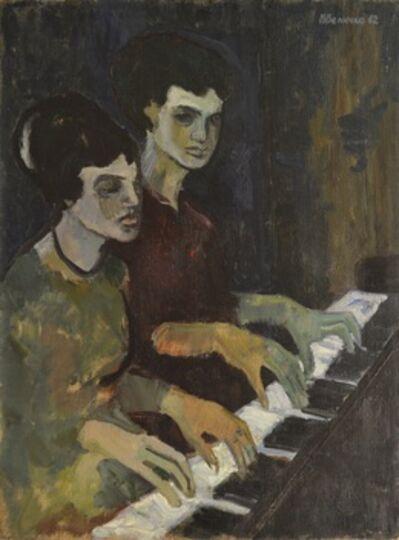 Vadim Semenovich Velichko, 'Playing four hands', 1962