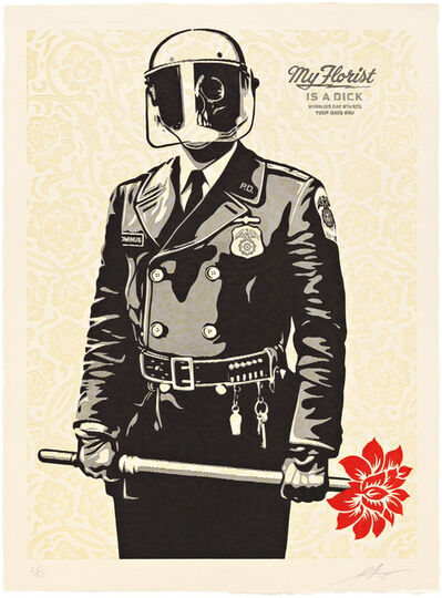 Shepard Fairey, 'My Florist is a Dick', 2015