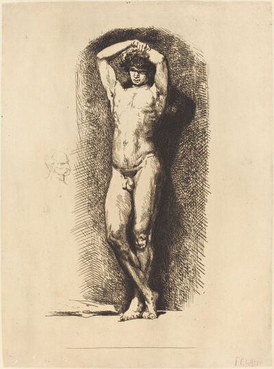 François-Nicolas Chifflart, 'Male Academy', 1865