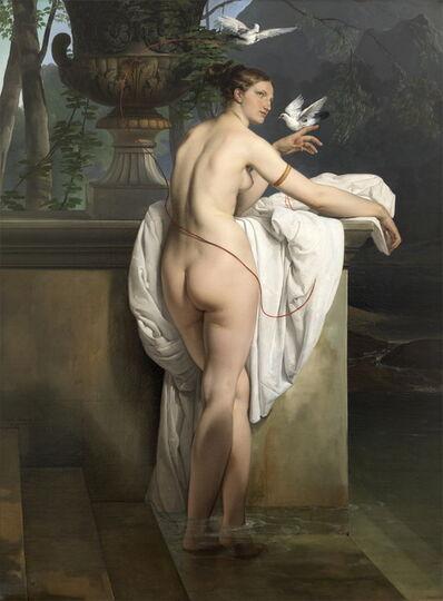 Francesco Hayez, 'Venere che scherza con due colombe (Ritratto della ballerina Carlotta Chabert) [Venus playing with two Doves (Portrait of the Dancer Carlotta Chabert)]', 1830