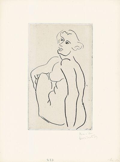 Henri Matisse, 'Nu assis, le dos vu de trois-quarts', 1931