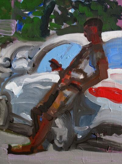 Dena Schutzer, 'Man Leaning on Car', 2018