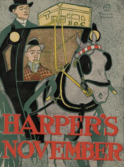 Edward Penfield, 'Harper's November 1896 - Horse and Hansom', 1896