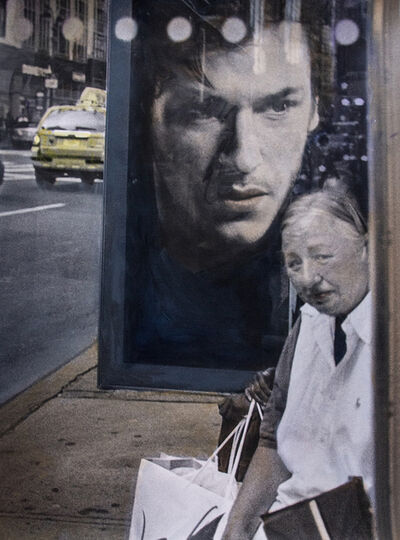 Leslie Hanes, 'Bus Shelter, NYC'