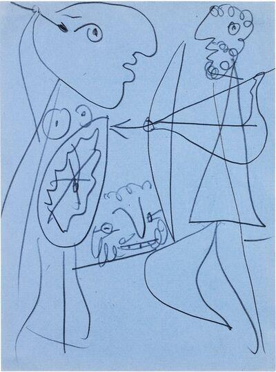 Pablo Picasso, 'Etude pour Lysistrata - Divers personnages', 1933