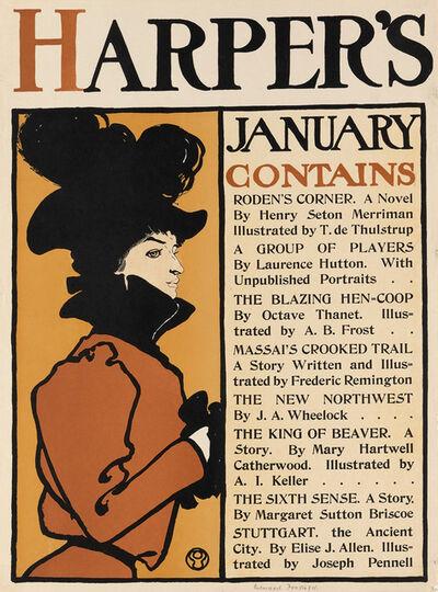 Edward Penfield, 'Harper's January 1896', 1898