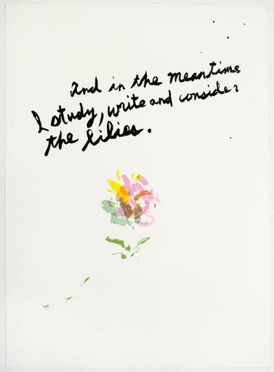 Raymond Pettibon, 'Untitled (Lilies)', 2018
