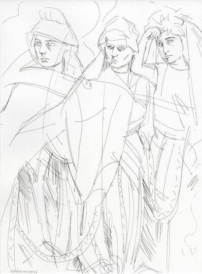 Elizabeth Peyton, 'Rhinemaidens (Norns), 1876', 2011