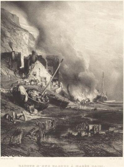 Eugène Isabey, 'Radoub d'une barque à Marée Basse', 1833