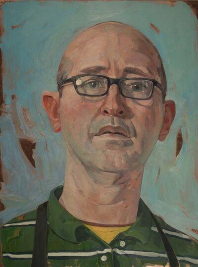 Benjamin J. Shamback, 'Self Portrait (In Striped Shirt)', 2017