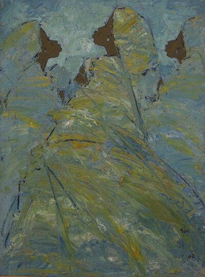 Ablade Glover, 'Blue/Green Profile', 2002
