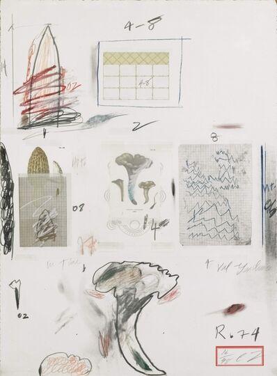 Cy Twombly, 'Natural History, Part I: Mushrooms, no.VI', 1974
