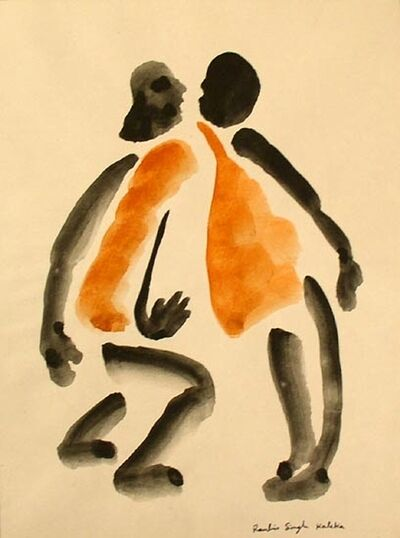 Ranbir Kaleka, 'Untitled (Two Orange Men)', ND