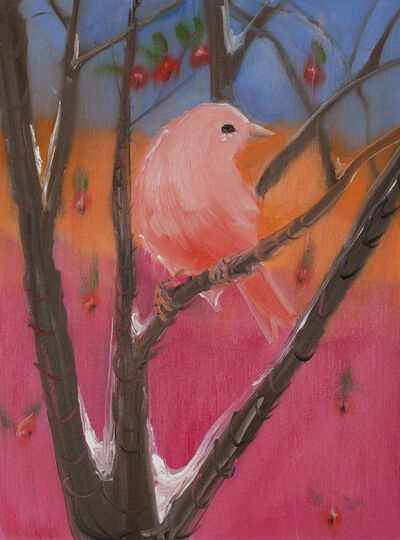 Ann Craven, 'Pink Canary (Stepping Out on Blue)', 2017