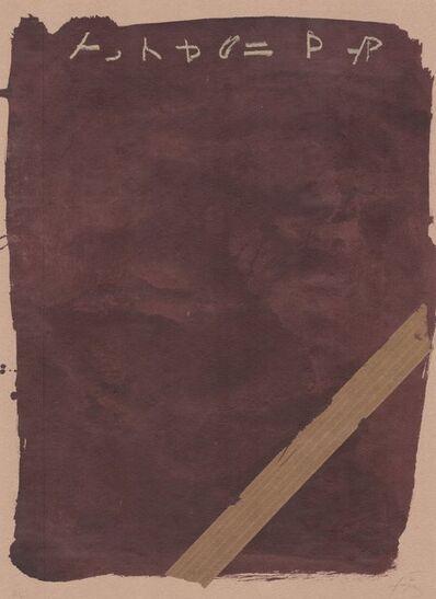 Antoni Tàpies, 'Llambrec material XIII', 1970-1980