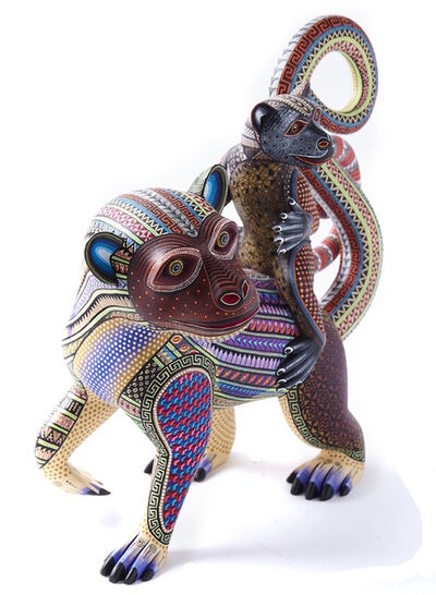 Manuel Cruz Prudencio, 'Madre e Hijo / Woodcarving Alebrije Mexican Folk Art Sculpture', 2017