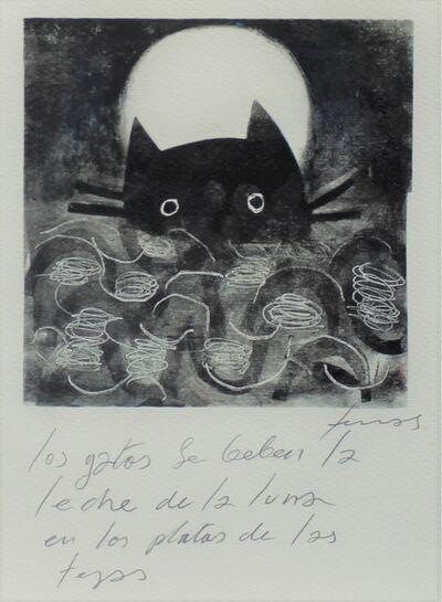 Damián Lescas, 'Los gatos se beben la leche de la luna en los platos de las tejas', 2019